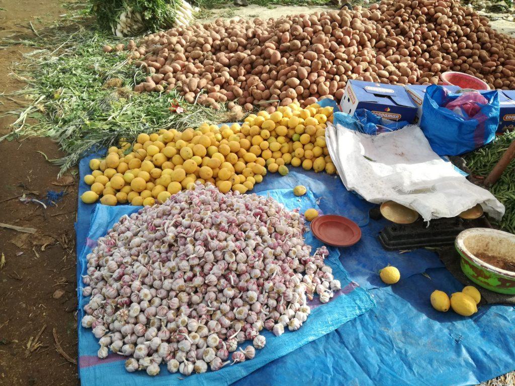 patate, ails et citrons a Taroudant