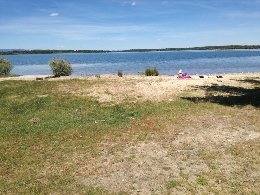 la plage du lac