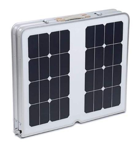 Table solaire plée