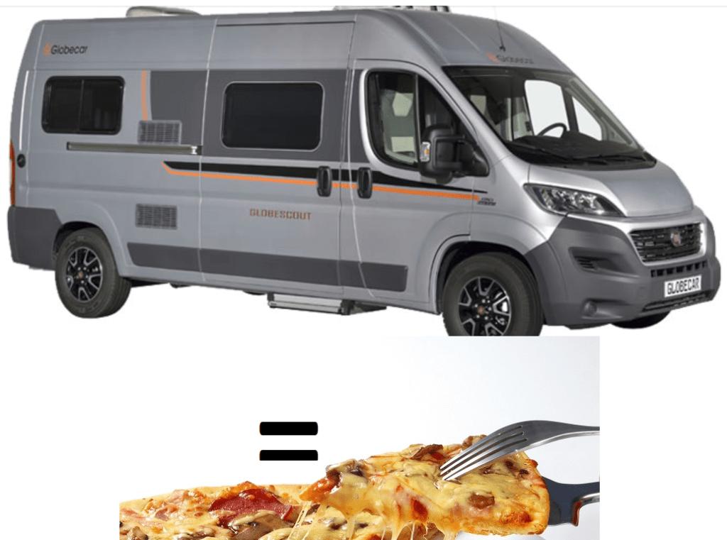 fourgon pour le prix d'une pizza